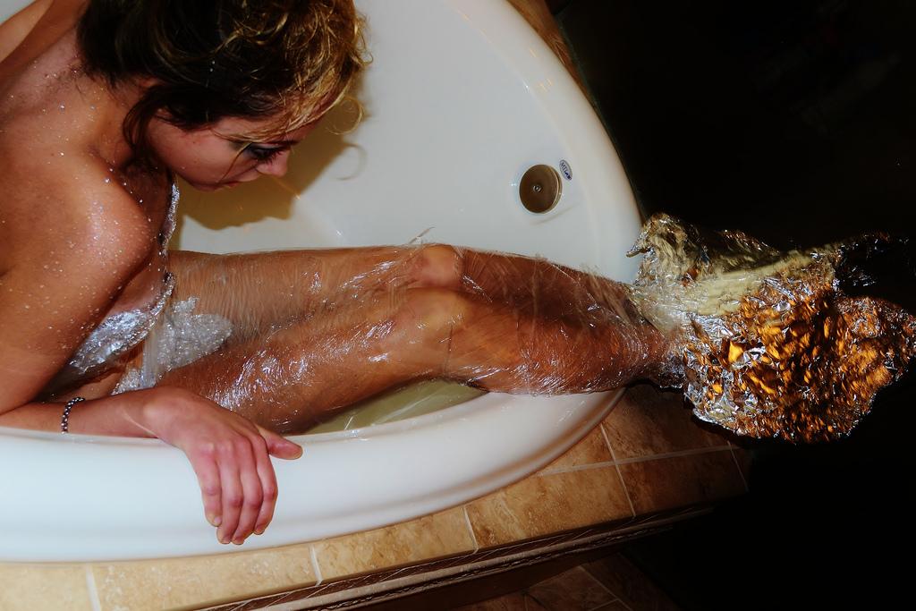 Do it yourself in der Badewanne