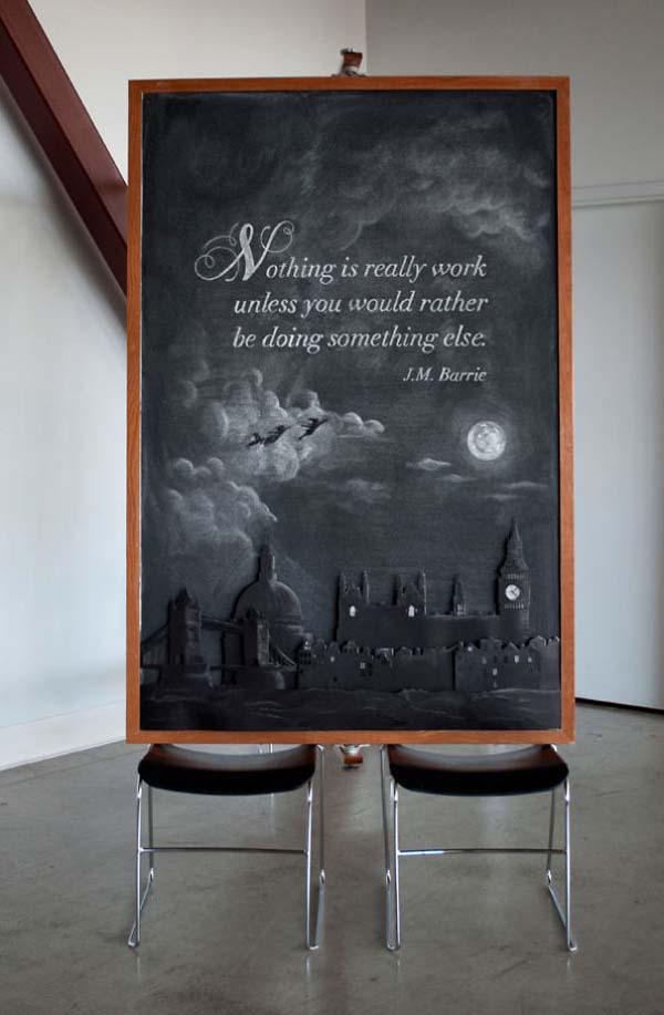Kunstwerke auf Tafeln - J.M. Barrie