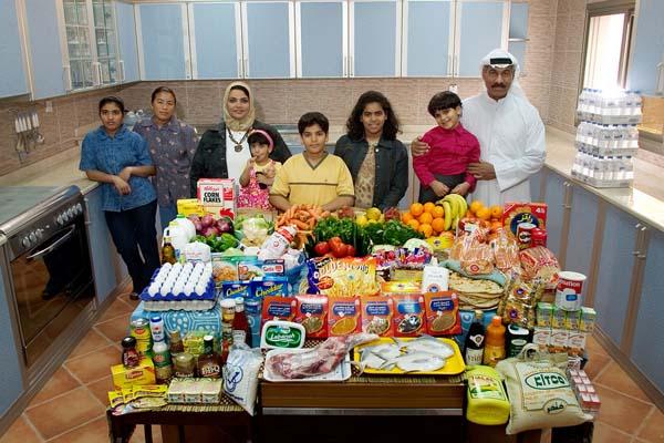 Essen für eine Woche - Kuwait