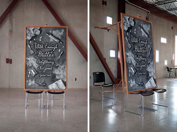 Kunstwerke auf Tafeln - Julia Child 2