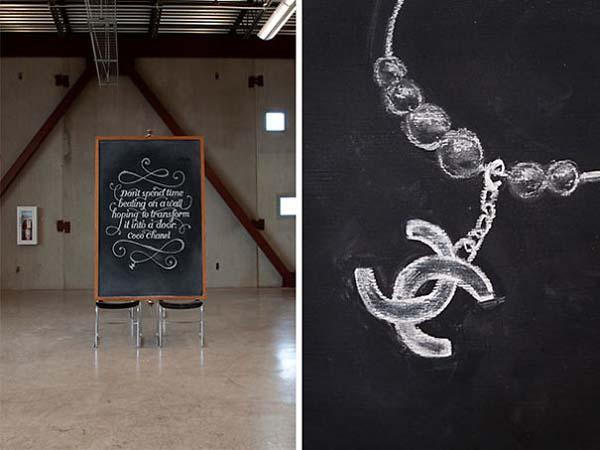 Kunstwerke auf Tafeln - Coco Chanel 2