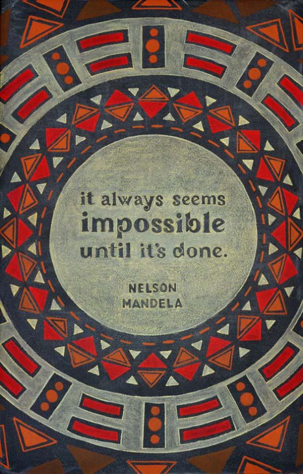 Kunstwerke auf Tafeln - Nelson Mandela