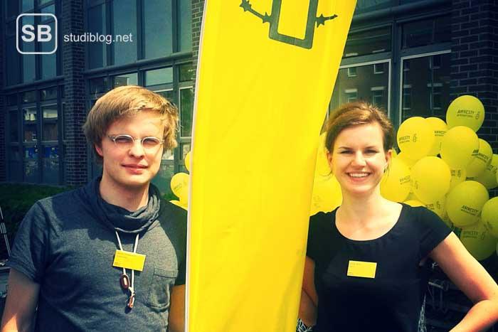 Zwei Mitarbeiter von Amnesty International