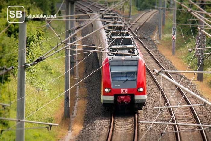 Die Deutsche Bahn auf einem Gleis