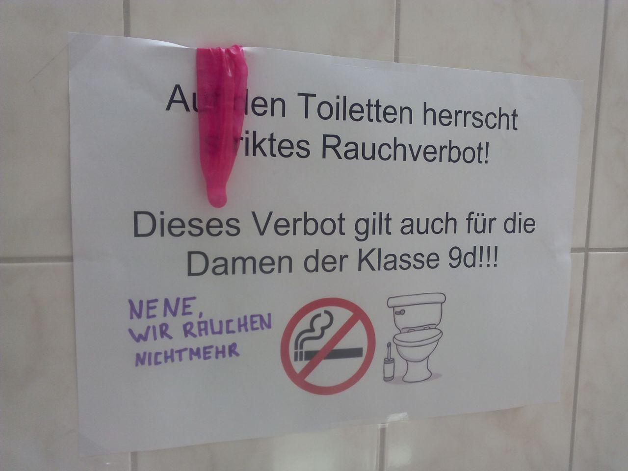 toilettenaushang