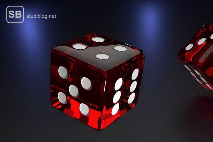 Spielwürfel als Symbol für das Glücksspiel bei der sogenannten Chancengleichheit