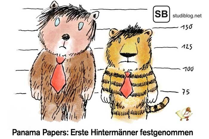 Die Täter von PanamaPapers erklärt an einem Sparschwein
