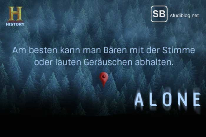 Screenshot der Serie ALONE in der Wildnis