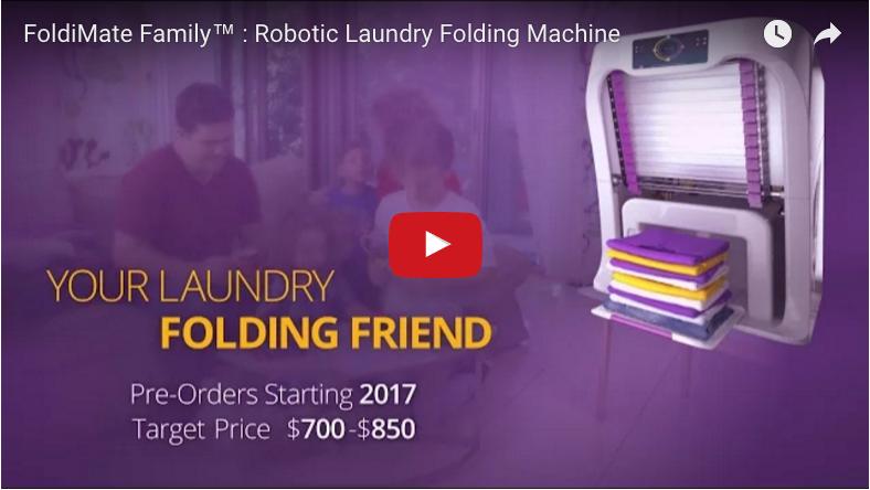 Wäsche faltet sich von selbst - Wäschefaltmaschine
