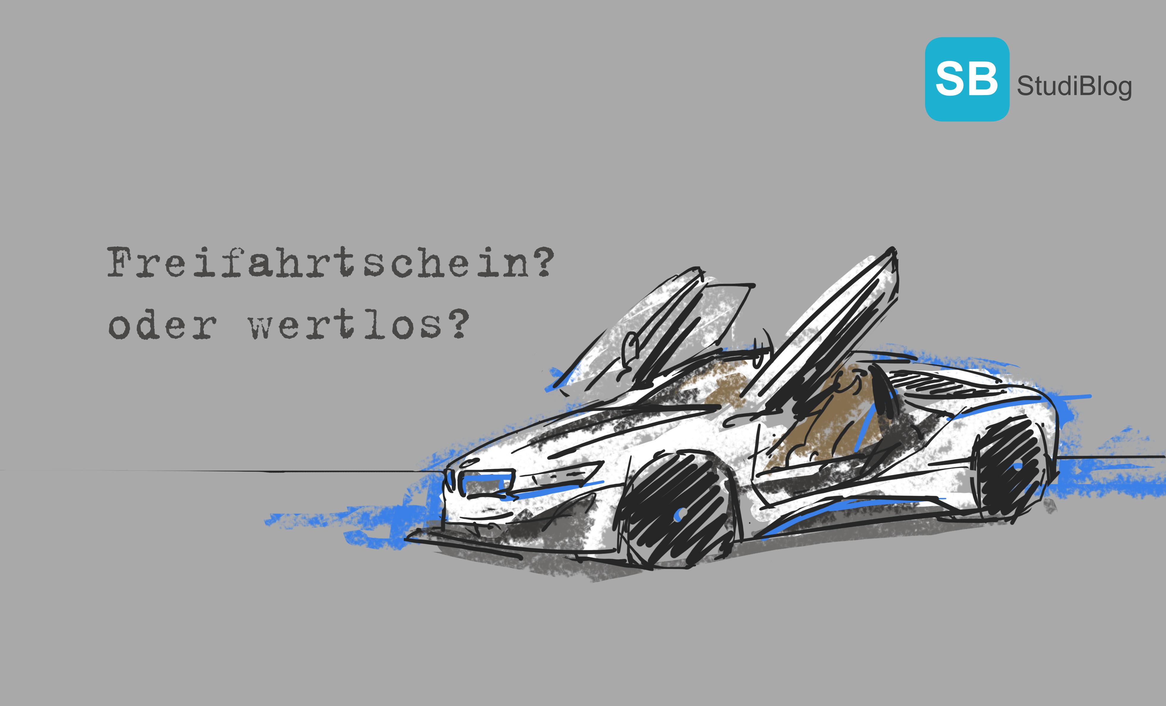 Nachgezeichneter BMW i8 mit der Frage, ob sich ein Studium heutzutage noch lohnt.