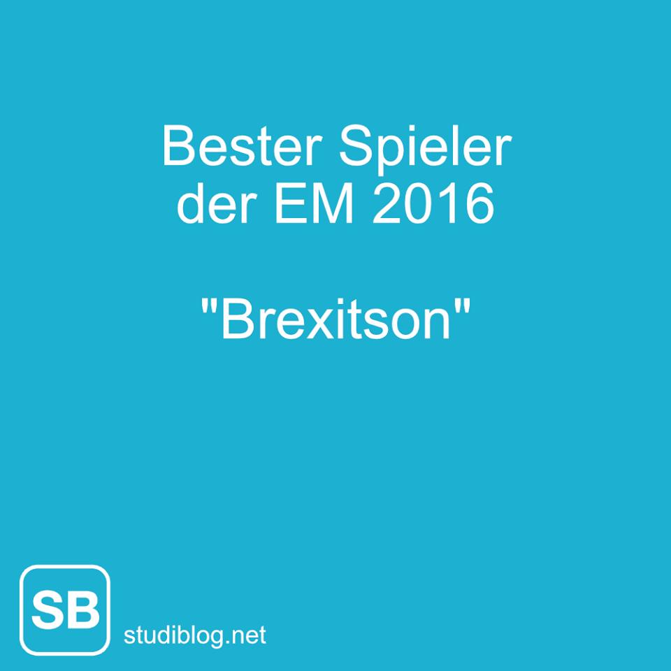 Bester Spieler der EM 2016 - Brexitson