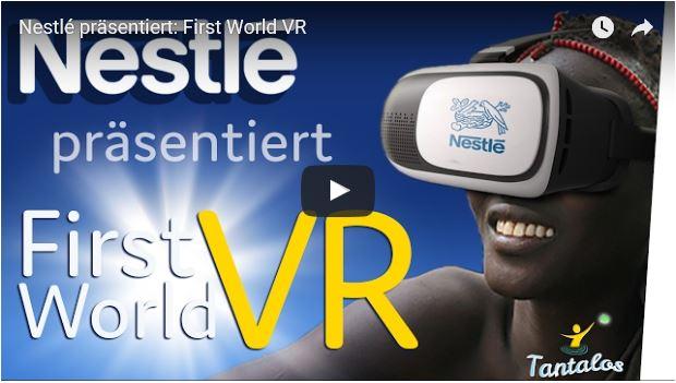 Titelbild zum Video der VR-Brille von Nestlé für die Ärmsten der Armen