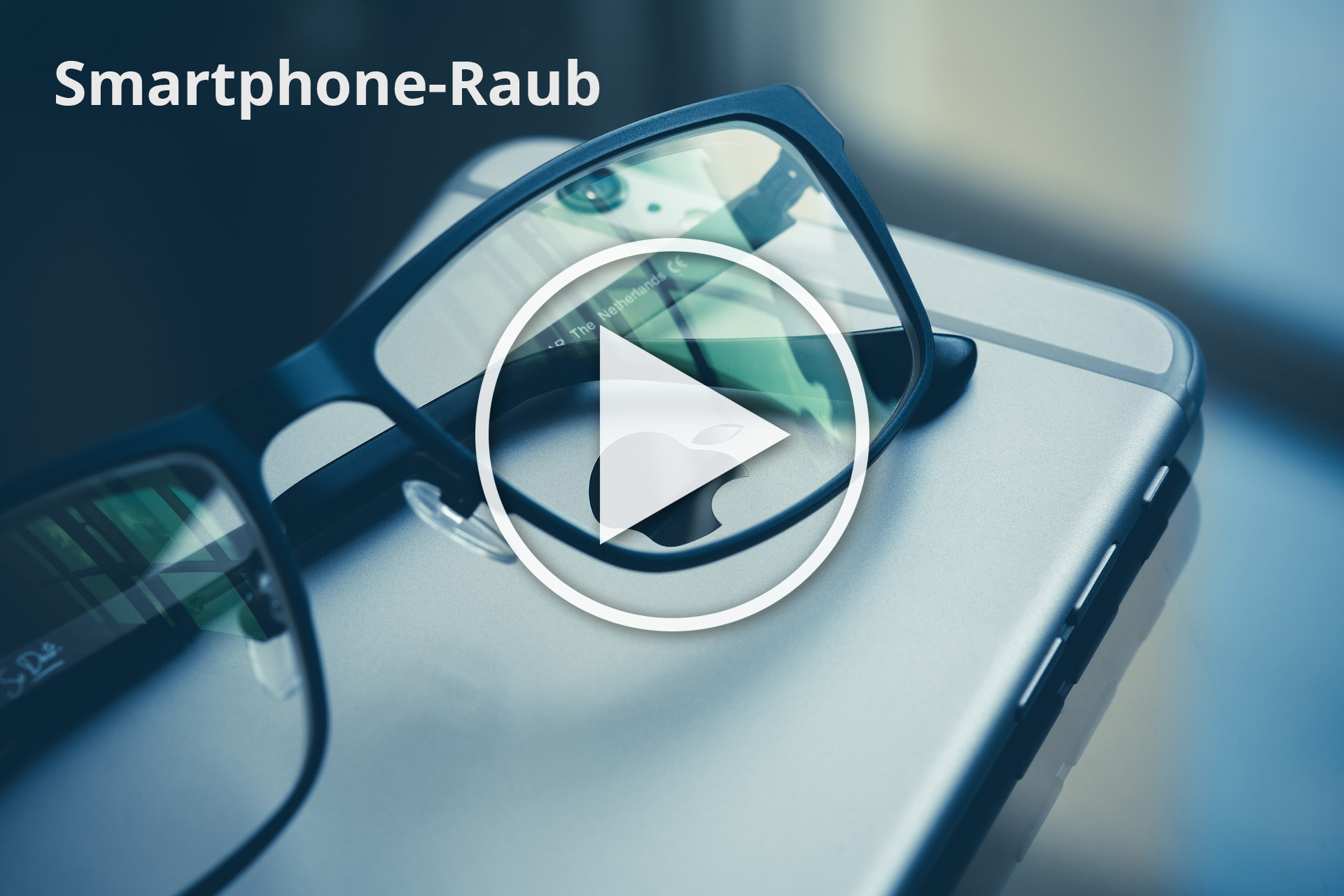 """Beitragsbild zum Film """"Smartphonedieb als Filmprojekt"""" - Handy und Brille"""
