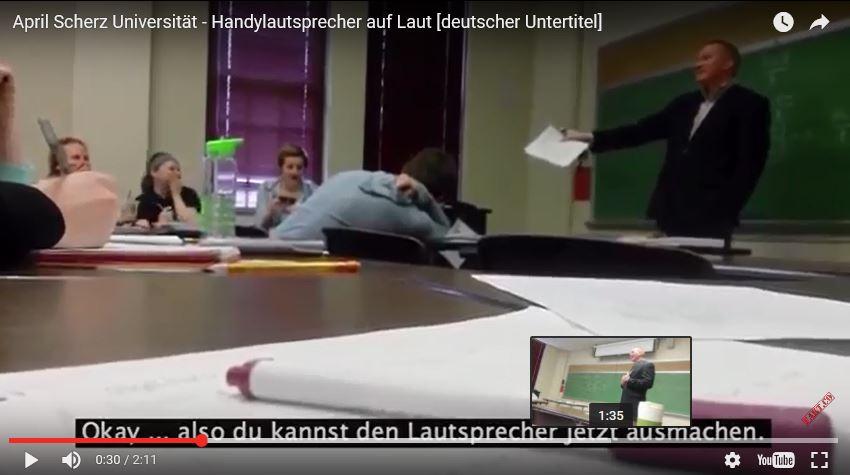 Beitragsbild zum Video wenn das Handy in der Vorlesung klingelt