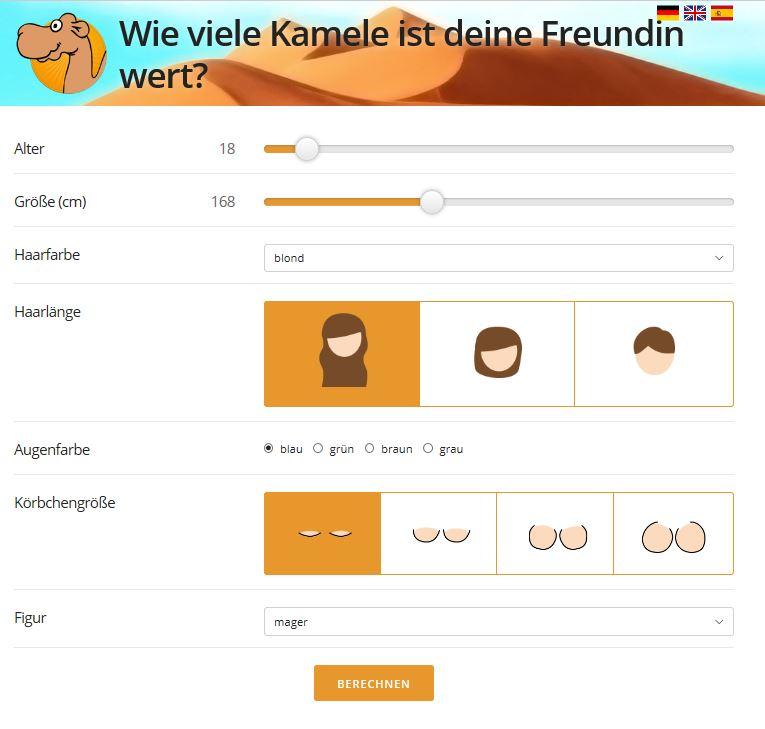 kamel rechner screenshot studiblog