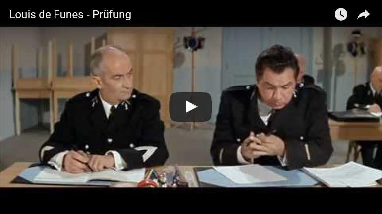 Filmklassiker zum Thema Prüfung mit dem Gendarmen Louis de Funes