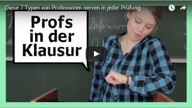 Video zum Thema: Nerviger Professoren-Typ während der Klausur