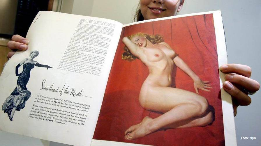 Playboy Ausgabe Nummer eins, beinhaltete Nacktbilder von Marilyn Monroe