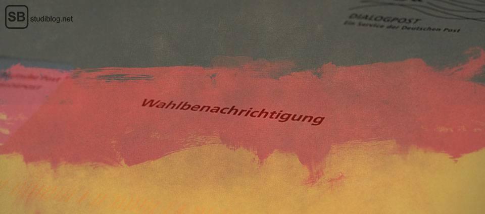 Wahl 2017: Wahlbenachrichtigung mit Deutscher Flagge