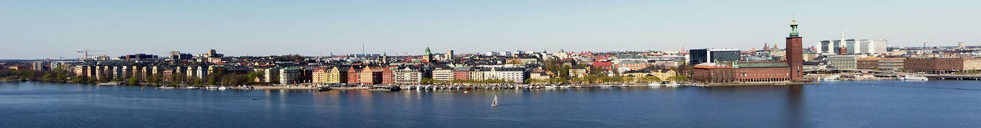 Aussicht auf Stockholm vom Skinnarviksberget