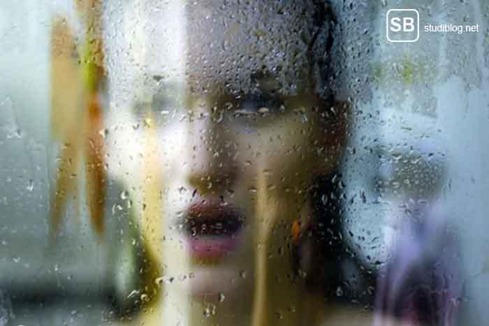Herr Google und die Geheimen Begiereden - Frau schaut durch eine beschlagene Glasscheibe