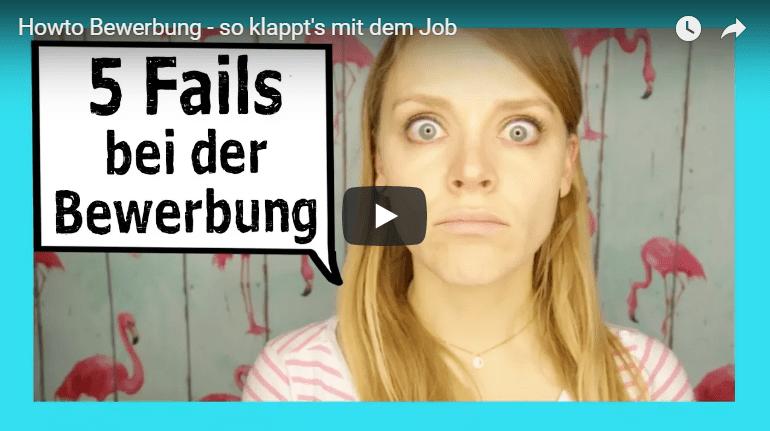 How To: Bewerbung - die 5 größten Fails / Fehler