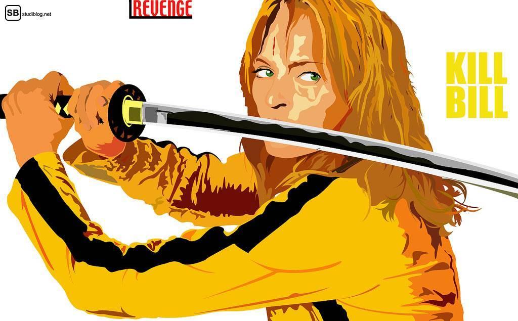 Kill Bill: Beatrix Kiddo hält ihr Schwert