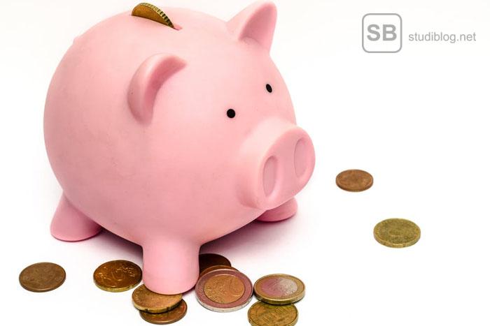 Sparschwein als Symbol für das Thema Geldsorgen beseitigen