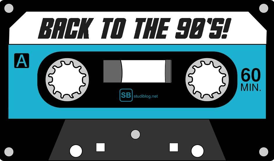 90er Trend: Kassette, auf der steht: Back to the 90's | Studiblog