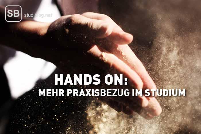 Hände klatschen zusammen, Mehl staubt - zum Thema Praxisbezug im Studium und Hand on Mentalität