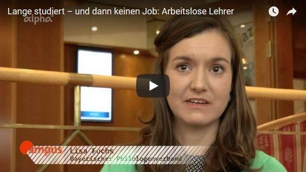 Arbeitslose Lehramt-Studenten - Screenshot Video
