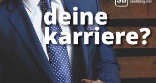 Student mit Anzug und Krawatte zum Thema ob die gewünschte Karriere auch wirklich realistisch ist