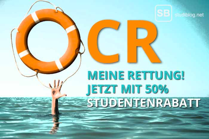 Eine Hand im Wasser greift nach einem Rettungsring, zum Thema OCR Texterkennung war meine Rettung im Studium