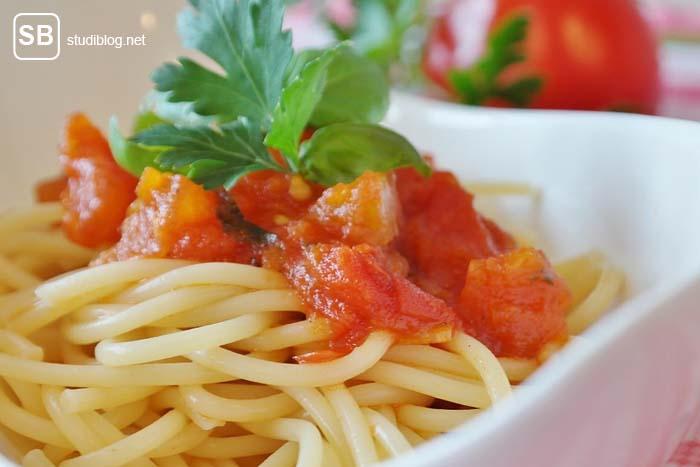 Spaghetti zum Thema online Italienisch lernen
