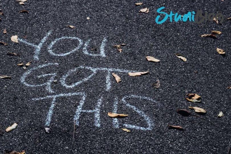 """Auf die Straße wurde in weißer Schrift """"You got this"""" gesprüht - effizient lernen: 3 nützliche Tipps!"""