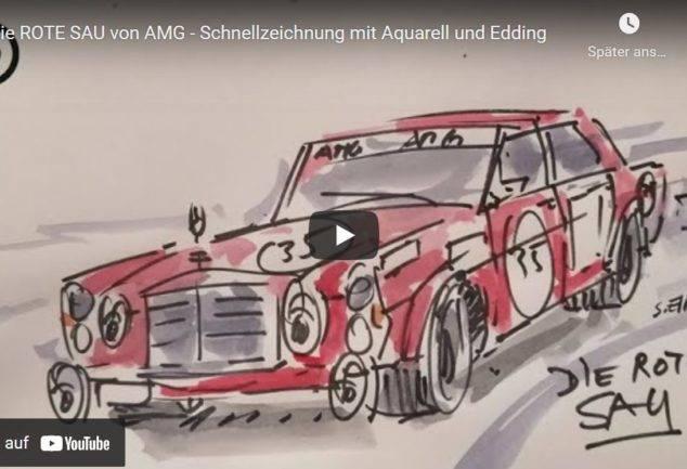 Die Rote Sau von AMG Schnellzeichnung