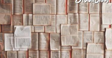 Sehr viele Bücher liegen aufgeschlagen da, sodass nur Textabschnitte zu sehen sind - eine Studienarbeit strecken.