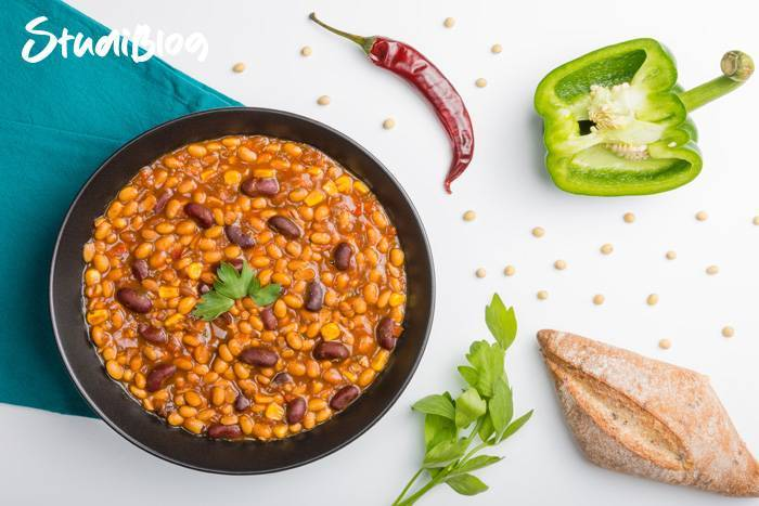 Chili sin carne - Rezept auf StudiBlog